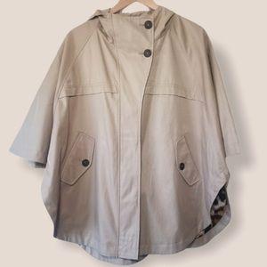 Hilary Radley hooded cape jacket size small